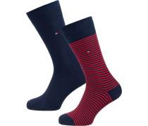 Socken nachtblau / rot