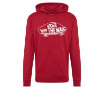 Sweatshirt 'otw PO II' rot / weiß