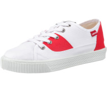 'Malibu Lady Patch' Sneakers Low rot / weiß
