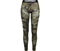 Leggings grau / grün / schwarz