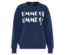 Statement-Sweatshirt blau
