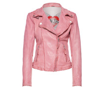 Lederjacke 'Sweet Little Love' pink