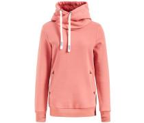 Sweatshirt 'ulyssa' braun / koralle / weiß