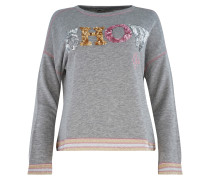 Sweater ' Vegas ' graumeliert / rosa