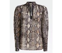Shirt 'Python-Print' mischfarben