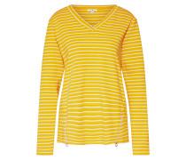 Sweatshirt gelb / offwhite