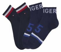 Kurze Socken navy / rot / weiß