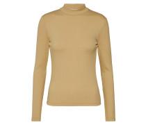Shirt 'Inas' camel / braun / goldgelb