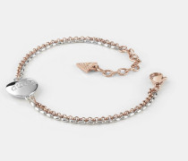 Armband 'Unchain My Heart' rosegold / silber