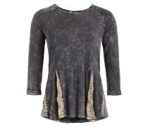 Shirt 'sabrina' hellbeige / dunkelgrau