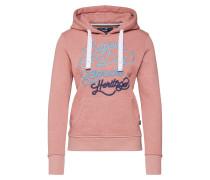 Sweatshirt blau / hellblau / rosa
