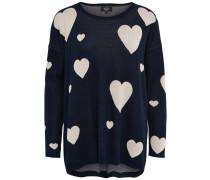 Pullover 'onlVALENTINE' nachtblau / weiß