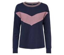 Sweatshirt navy / rosa