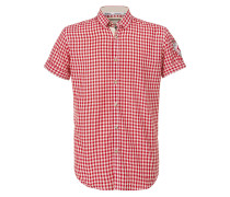 Hemd 'Connor' rot / weiß