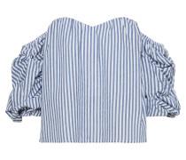 Top 'sleeve Bustier' blau / weiß