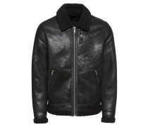 Lederjacke 'jpral Jacket' schwarz