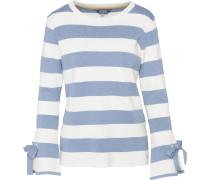 Shirt rauchblau / weiß