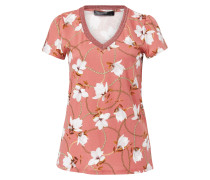 T-Shirt mit Magnolienprint mischfarben