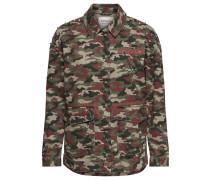 Camouflage-Langarmjacke braun / oliv