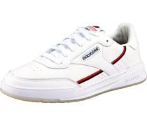 Sneakers Low weiß / rot / schwarz