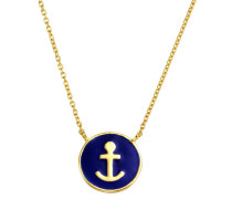 Kette 'Anker' navy / gold