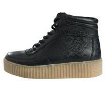 Stiefel hellbeige / schwarz