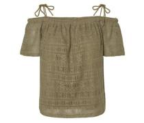 Off-Shoulder-Bluse khaki
