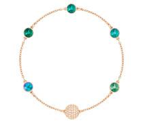 Armband rosegold / smaragd / transparent
