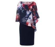 Kleid dunkelblau / rot