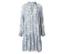 Kleid 'Clouds' weiß / hellblau