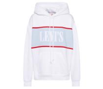 Sweatshirt 'cameron Hoodie' blau / weiß