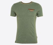 T-Shirt 'Suppenkasper' cognac / oliv