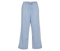 Pyjamahose 'lace' blau