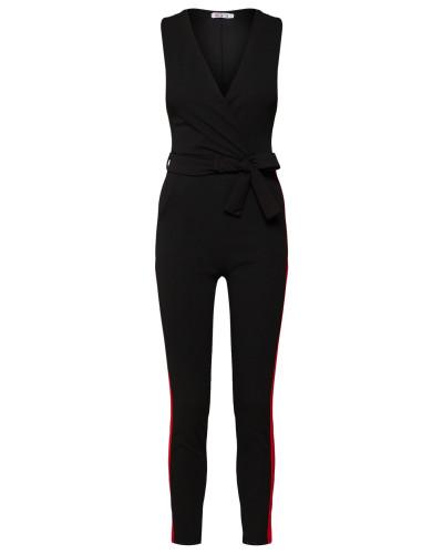 Jumpsuit rot / schwarz