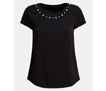 Shirt schwarz / perlweiß