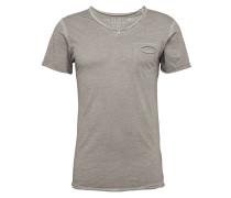 T-Shirt 'Soda' mit V-Ausschnitt grau