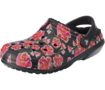 Clog 'Lined Graphic II' rot / schwarz