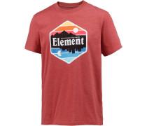 'dusk' T-Shirt mischfarben / pastellrot
