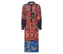Kleid 'talia' blau / merlot / schwarz