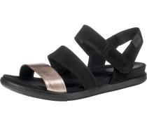 Sandalen rosé / schwarz
