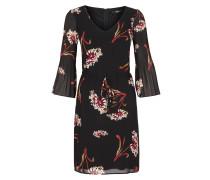 Chiffon-Kleid mit Plissee-Ärmeln