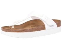 Sandalen 'Gizeh' basaltgrau / weiß