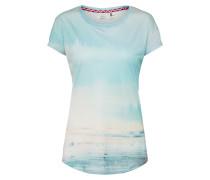T-Shirt rauchblau / naturweiß
