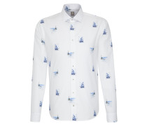 Hemd 'Perfect Fit' blau / weiß