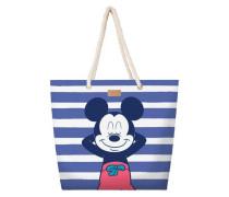 Strandtasche blau / weiß
