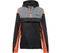 Windbreaker 'Trefoil' orange / schwarz