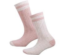 Socken rosa / weiß