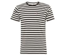 Shirt mit Streifen-Design schwarz / weiß