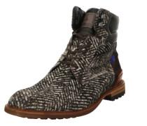 Stiefel schwarz / naturweiß