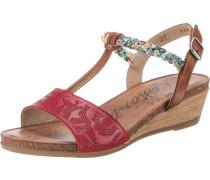 Sandaletten rot / braun